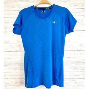 Under Armour Blue Heat Gear Fitted Top